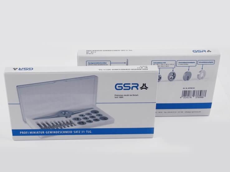 GSR Gustav Stursberg Miniatur-Gewindeschneid-Satz für filigrane Arbeiten: Gewindebohrer, Schneideisen und Haltewerkzeug