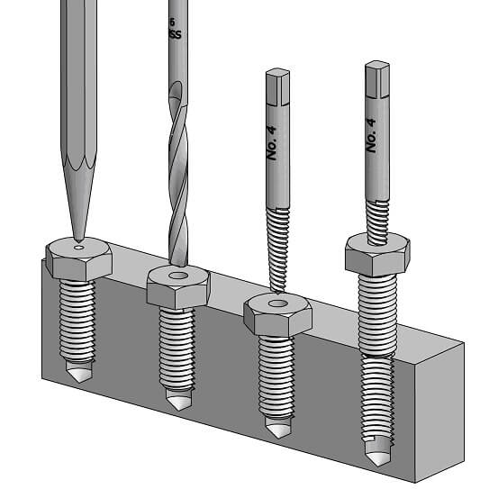 Screw extractor Instructions: unscrew defective screws step-by-step